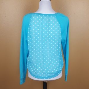 🌟 Aeropostale Polka-dot Sky Blue Sweater Large